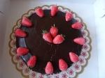 Chocolade aardbei taart